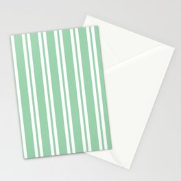 Mint Green Wide Small Wide Stripes Stationery Cards