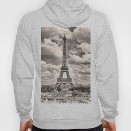 Eiffel Tower in sepia in Paris, France. Landmark in Europe Hoody