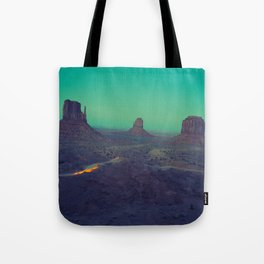 The Arizona Desert Grand Canyon Landscape With Turquoise Sky Sunset Tote Bag