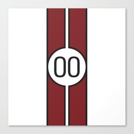 racing stripe .. #00 Canvas Print