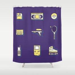 90s Stuff Shower Curtain