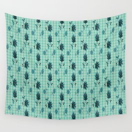 country blue flowers pattern Wall Tapestry