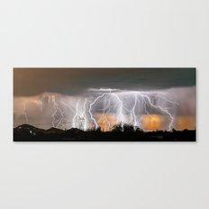 Monsoon Peach Canvas Print