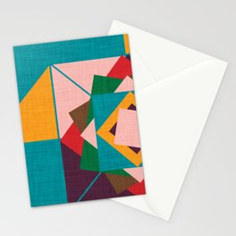 wind rose teal Stationery Cards
