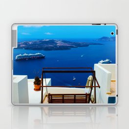 Volcano View,Santorini Laptop & iPad Skin