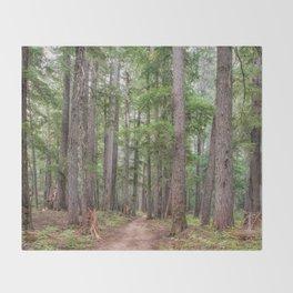 Forest Trail, Pacific Northwest, Washington State Throw Blanket