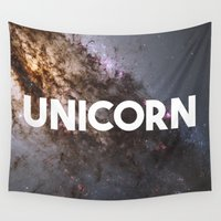 unicorn Wall Tapestries featuring Unicorn by eARTh