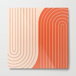 Two Tone Line Curvature XI  Metal Print