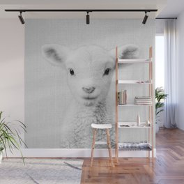 Lamb - Black & White Wall Mural