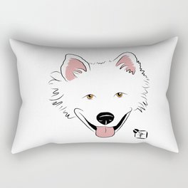American Eskimo Face Rectangular Pillow