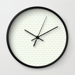 Lis pattern Wall Clock