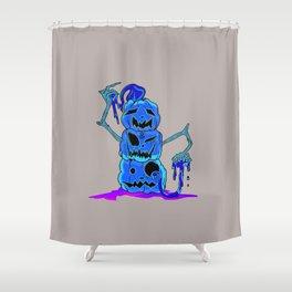 Pumpkin Stack dark Shower Curtain