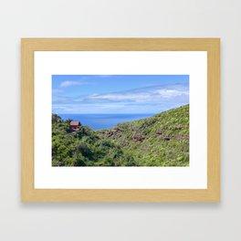 Little House on La Palma Framed Art Print