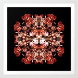 Dutch Floral Still Life Mandala Art Print
