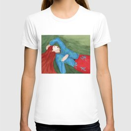 Watercolor fashion illustration. Sleeping Beauty T-shirt