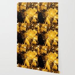 Golden Geode Wallpaper
