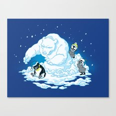 Penguin Jerks Canvas Print