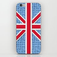 union jack iPhone & iPod Skins featuring Union Jack by Cats Hand