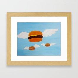 Bob's Flying Burgers Framed Art Print