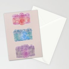 Watercolor Cameras Stationery Cards