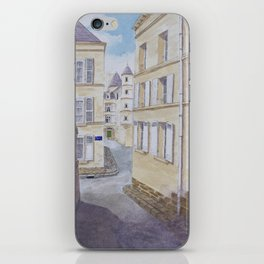Narrow streets in Chinons old town (France) iPhone Skin