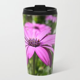 Macro Shot Of A Purple Osteospermum Travel Mug