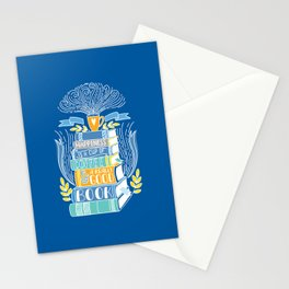 Happiness is Coffee and Books Stationery Cards
