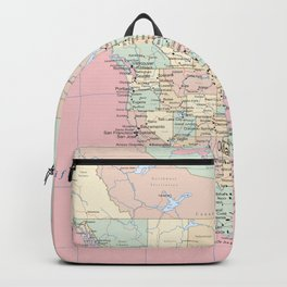 World Map North America Backpack