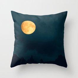 Full Moon Shines Overnight #decor #society6 #buyart #homedecor Throw Pillow