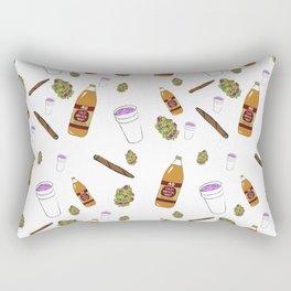 Turnt Up Allover Print Rectangular Pillow