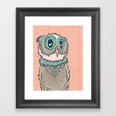 Owl wearing glasses II Framed Art Print