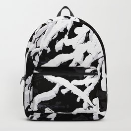 Snowy Branches On Black Background #decor #society6 Backpack