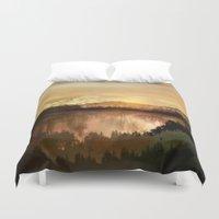 sunrise Duvet Covers featuring Sunrise by Viviana Gonzalez
