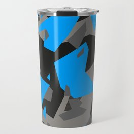Black\Grey\Blue Geometric Camo Travel Mug