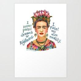 Frida by dotsofpaint studios Art Print