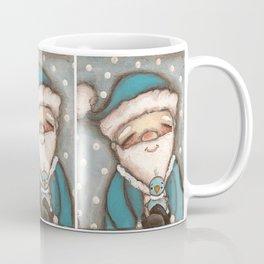 Blue Santa - by Diane Duda Coffee Mug