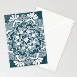 Silver and Blue Mandala Stationery Cards