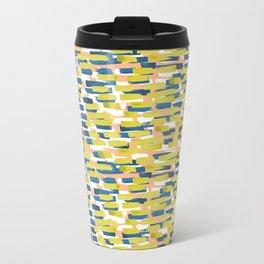 beach stripe Metal Travel Mug