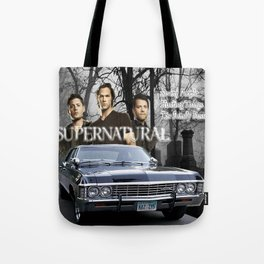 Supernatural the Winchester Boys Tote Bag