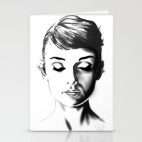 hepburn Stationery Cards featuring Audrey Hepburn by Geryes