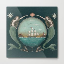 Sirens of the Sea by Donna Atkins Metal Print