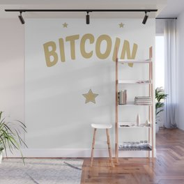 Original Bitcoin Satoshi Nakamoto Crypto Trust Est. 2009 Wall Mural