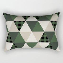 Hunter Green camping cabin glamping cheater quilt baby nursery gender neutral Rectangular Pillow