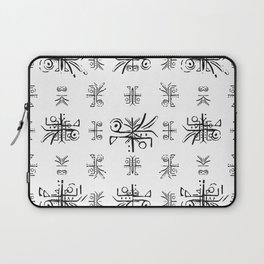 Black and White Ethnic Design Print Laptop Sleeve
