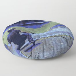 Just Cruisin'  - Skateboarder Floor Pillow