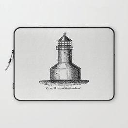 Cape Race Newfoundland from Circular relating to Lighthouses Lightships Buoys and Beacons (1863) Laptop Sleeve