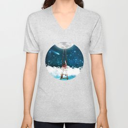 Reach for the Moon v2 Unisex V-Neck