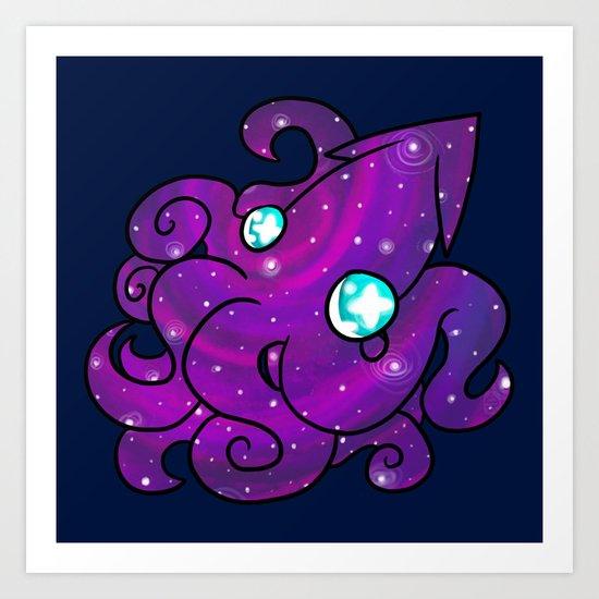 Space Squid Art Print