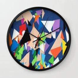 PAPELES EN EL ESPACIO Wall Clock