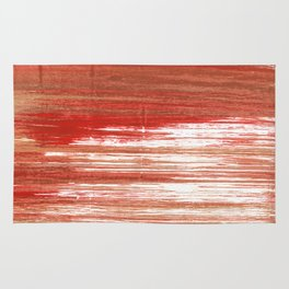 Medium carmine abstract watercolor Rug